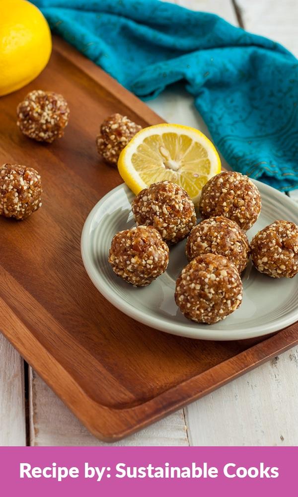 lemon bliss balls energy balls recipe