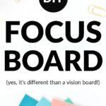 diy focus board tutorial