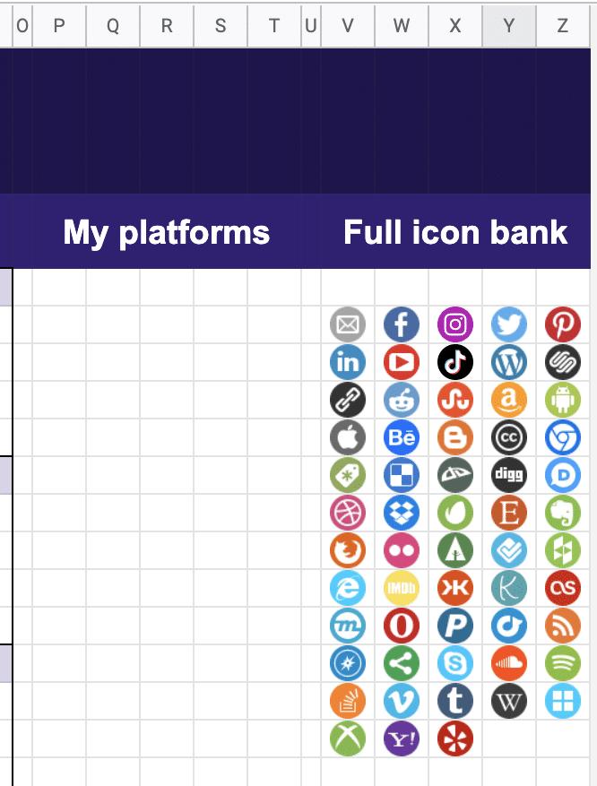 Full icon bank