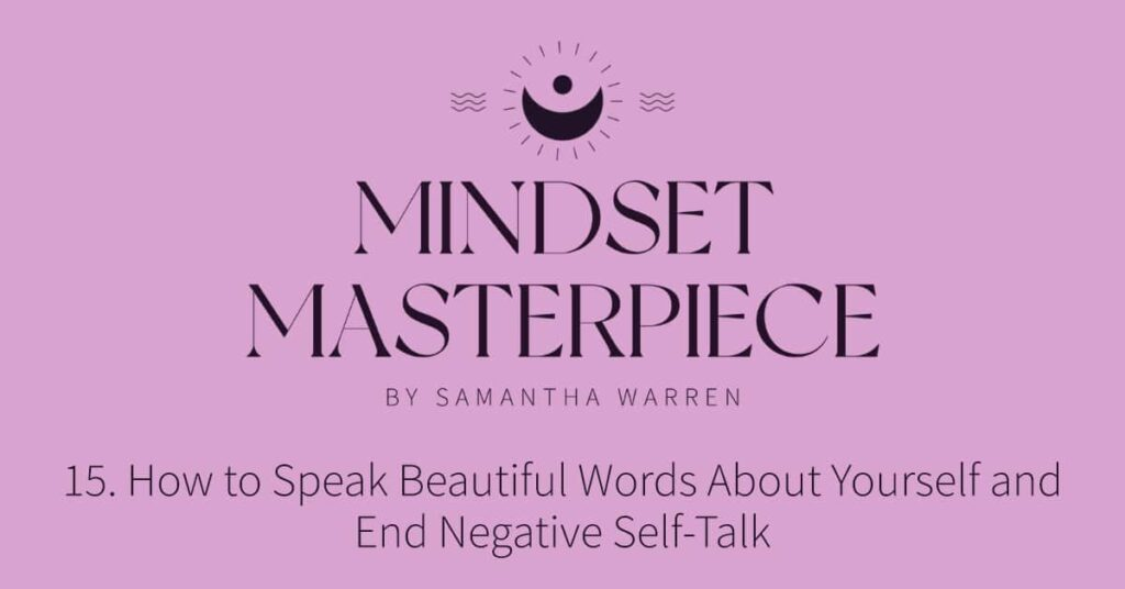 how to end negative self-talk