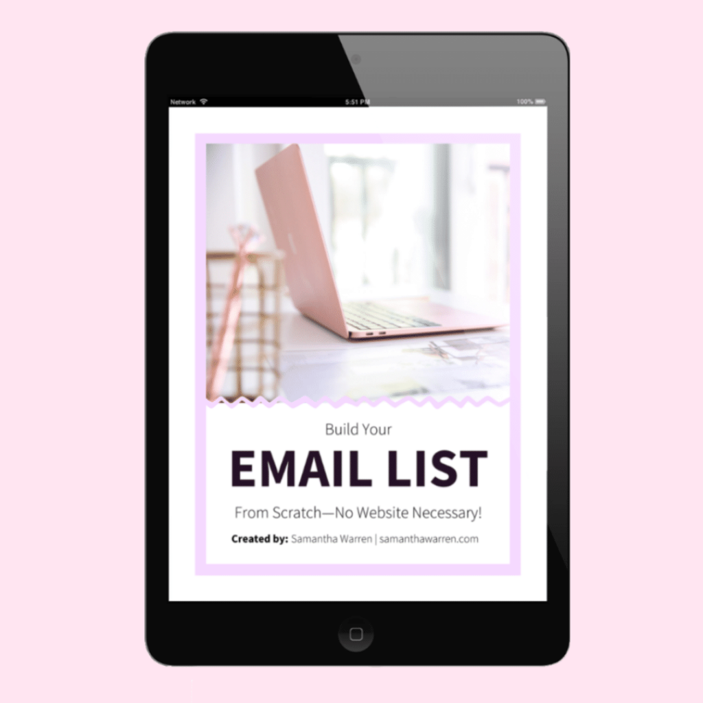 build your email list from scratch